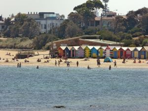 Brighton Beach bei Melbourne