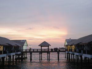 Sonnenuntergang Küste Malakka