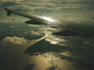 Per Flug von Saigon nach Hanoi