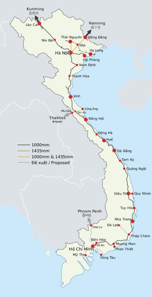 Zugnetz Vietnam